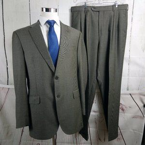 Bespoke Luca di Marco 44R Gray Black 2pc Suit
